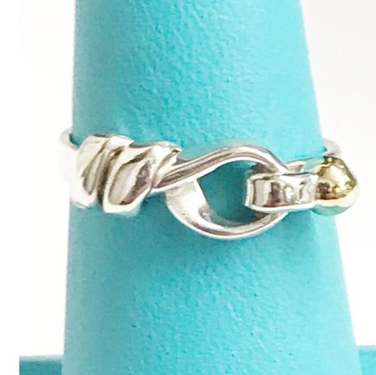 Tiffany & Co. Tiffany & Co. 18 Karat Yellow Gold and Sterling Silver Hook and Eye Ring Image 3
