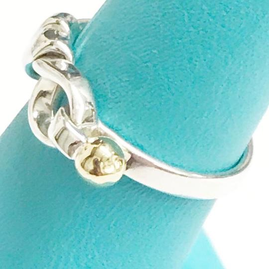 Tiffany & Co. Tiffany & Co. 18 Karat Yellow Gold and Sterling Silver Hook and Eye Ring Image 4