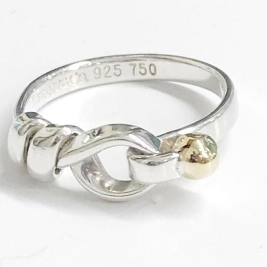 Tiffany & Co. Tiffany & Co. 18 Karat Yellow Gold and Sterling Silver Hook and Eye Ring Image 5