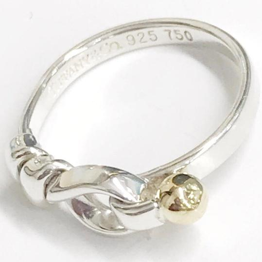 Tiffany & Co. Tiffany & Co. 18 Karat Yellow Gold and Sterling Silver Hook and Eye Ring Image 6