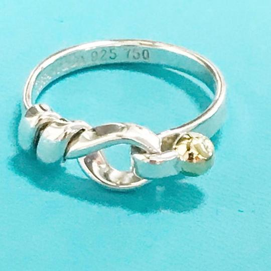 Tiffany & Co. Tiffany & Co. 18 Karat Yellow Gold and Sterling Silver Hook and Eye Ring Image 7