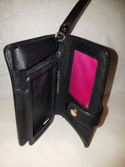Juicy Couture Juicy couture iPhone 5/5s wallet phone case Black leather nwot Image 8