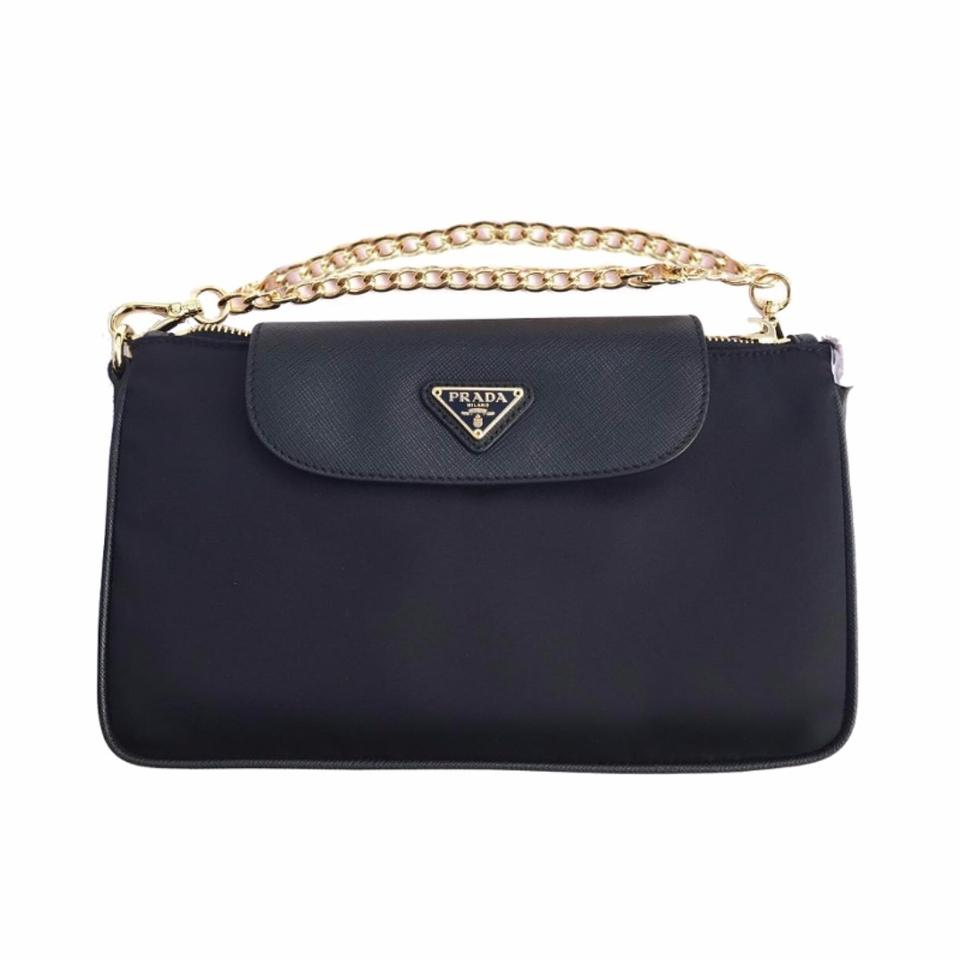 5ae38bdb4922fa Prada Women's Tessuto Saffian 1bh085 Navy Blue Nylon Cross Body Bag ...