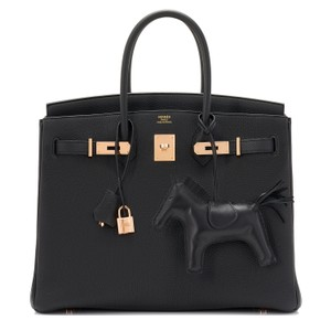 Hermès Birkin 35 Birkin Birkin 35 Rose Gold Tote in Black
