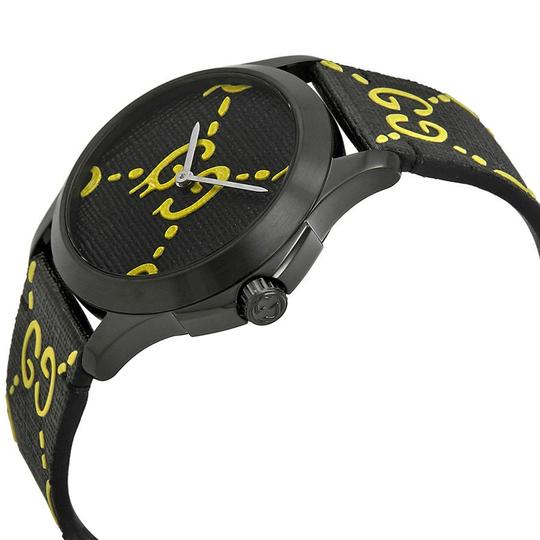 Gucci Ghost G-Timeless Black Yellow Dial Men's Rubber Watch Image 1