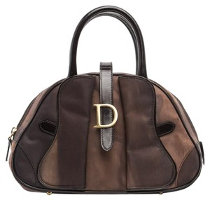 Dior Nylon Handle Trotter Tote in Brown