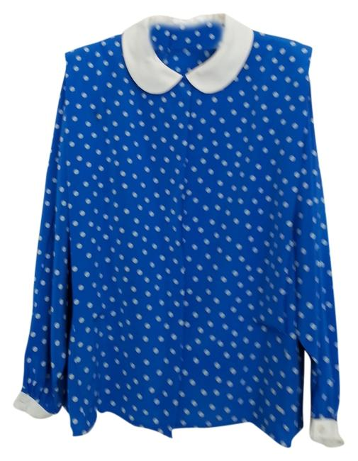 Preload https://item5.tradesy.com/images/albert-nipon-royal-blue-with-white-polka-dots-dollar-and-cuffs-blouse-size-8-m-2272134-0-0.jpg?width=400&height=650