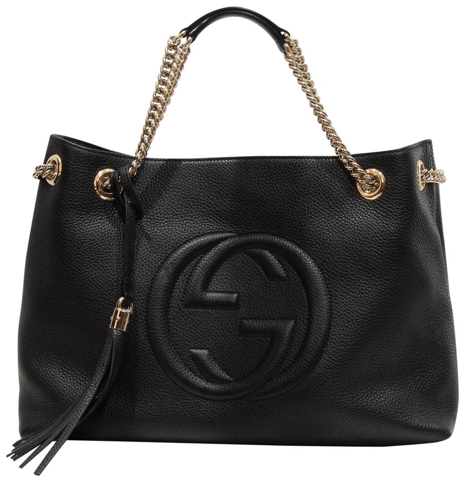 7e569d0e9ad319 Gucci Shoulder 308982 Handbag Soho Handbag Soho Tote in Black Image 0 ...