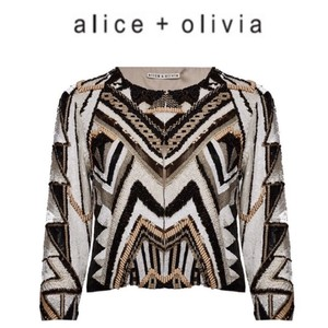 Alice + Olivia Top Neutrals