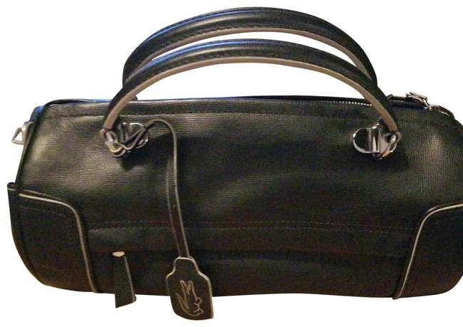 Item - Black with Silver Hardware Leather Cross Body Bag