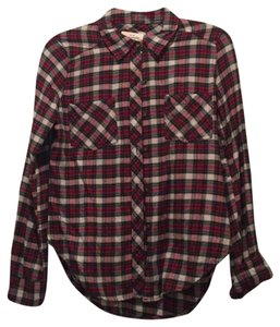 Abercrombie & Fitch Button Down Shirt red