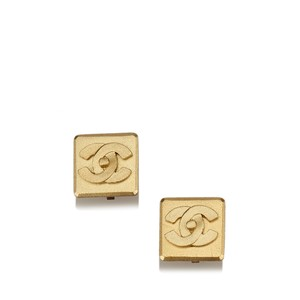 Chanel Chanel Square CC Clip On Earrings