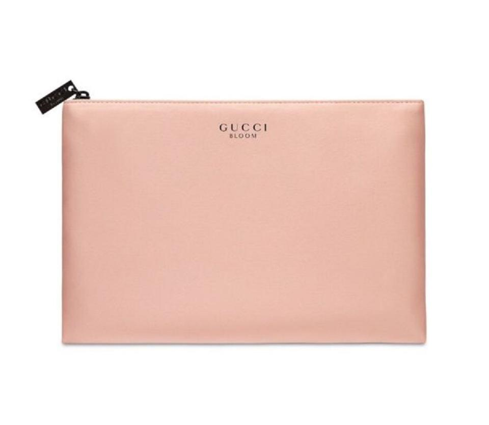 76278558bcb Gucci Gucci Bloom Pouch Cosmetic Hand Bag Makeup Case Clutch blush pink  nude Image 0 ...