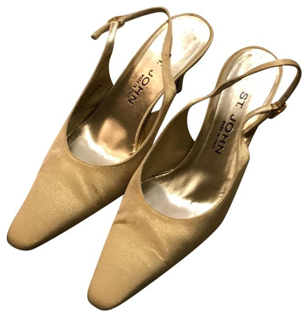 Item - Gold Slingback Pumps Formal Shoes Size US Regular (M, B)