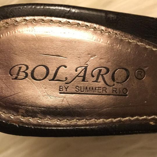 Bolaro black and dark gold. Sandals Image 5