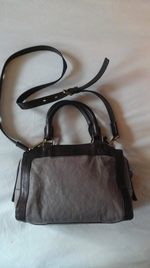 Fossil Crossbody Leather Satchel in Grey Image 2