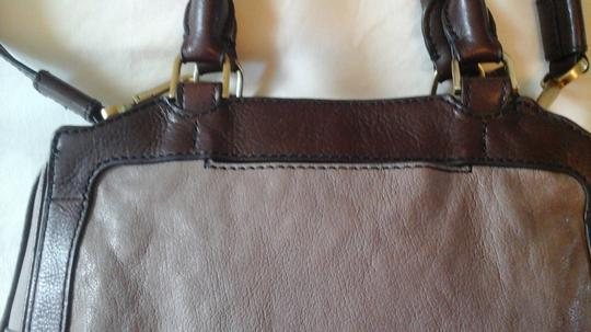 Fossil Crossbody Leather Satchel in Grey Image 7