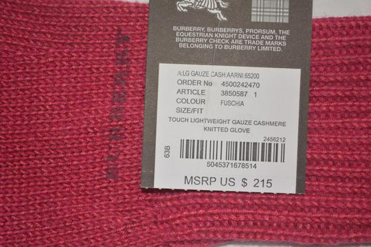 Burberry NEW WITH TAGS BURBERRY CASHMERE BLEND KNIT TOUCH GLOVES Image 4