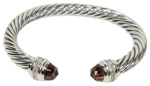 David Yurman DAVID YURMAN CLASSIC CABLE MORGANITE and DIAMONDS 7 mm BRACELET