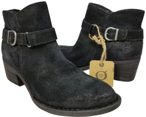 44ee0d3f88 Added to Shopping Bag. Børn black distressed Boots. Børn Black Distressed  Adia Leather Ankle Heeled Women s Boots Booties Size ...