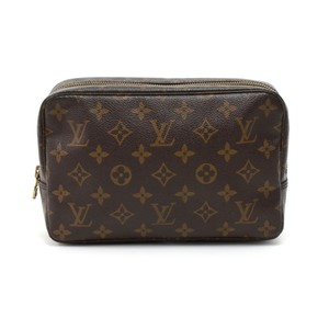 Louis Vuitton Monogram Canvas Toilette Cosmetic Brown Clutch