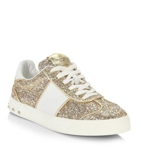 Valentino Sneakers New Gift Gold/White Athletic