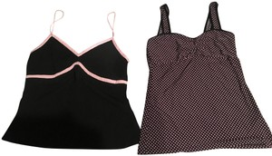 Diane von Furstenberg Polka Top Black and pink