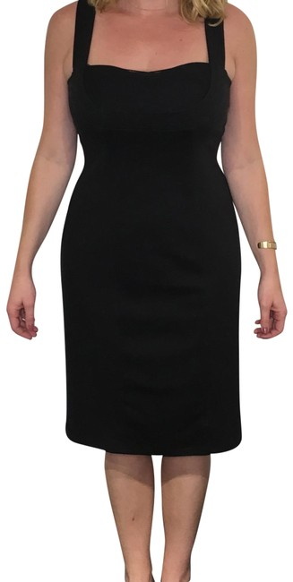 Preload https://img-static.tradesy.com/item/22722725/bcbgeneration-black-with-chiffon-ruched-top-mid-length-cocktail-dress-size-12-l-0-1-650-650.jpg
