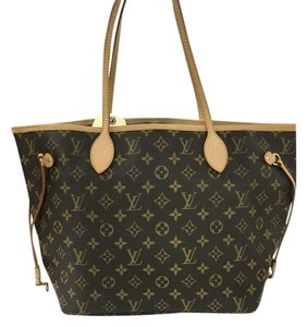 Louis Vuitton Neverfull Canvas Tote in Brown