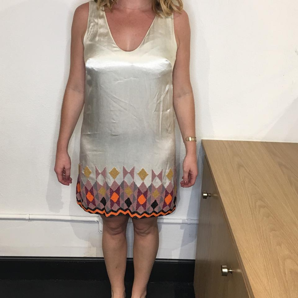 French Connection Cream Great Gatsby Mid-length Cocktail Dress Size ...