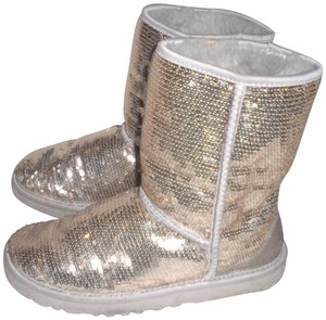 bb8990030bc UGG Australia Gold 3161 Sparkle Sequin Classic Short Womens Boots/Booties  Size US 7 Regular (M, B)