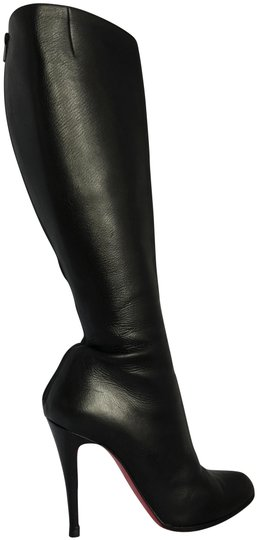 Preload https://img-static.tradesy.com/item/22723002/christian-louboutin-black-38-it-heel-alti-lady-fashion-ankle-red-sole-toe-zip-leather-knee-high-boot-0-2-540-540.jpg