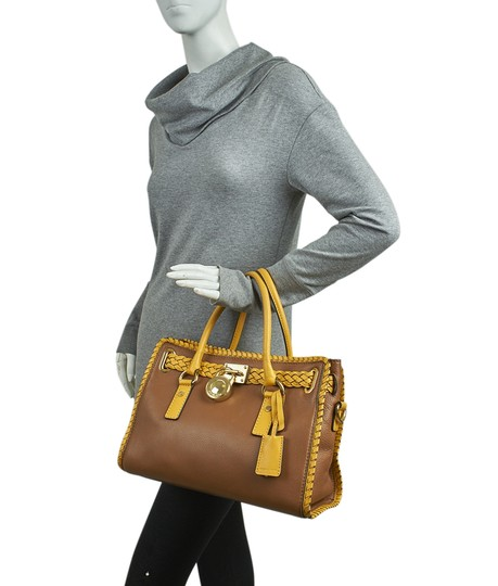 Michael Kors Leather Tote in Brown Image 1