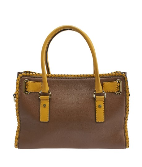 Michael Kors Leather Tote in Brown Image 4