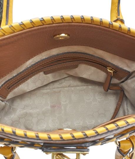 Michael Kors Leather Tote in Brown Image 8