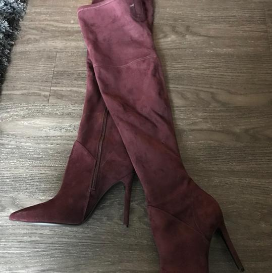 Kendall + Kylie maroon Boots Image 2
