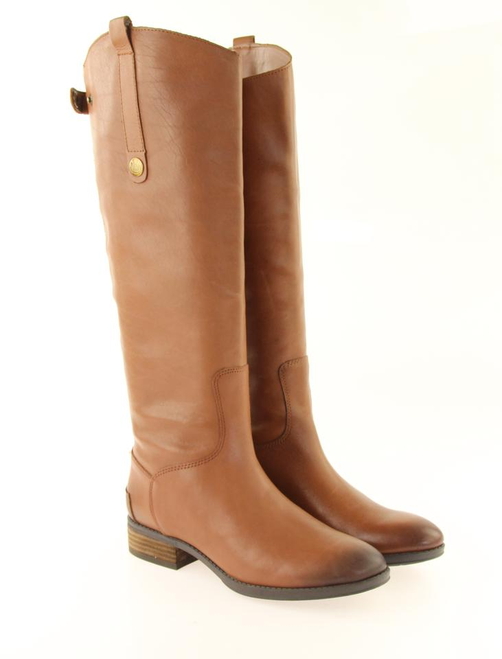 7395574b2cd04d Sam Edelman Brown Penny Whiskey Leather Boots Booties Size US 7 ...