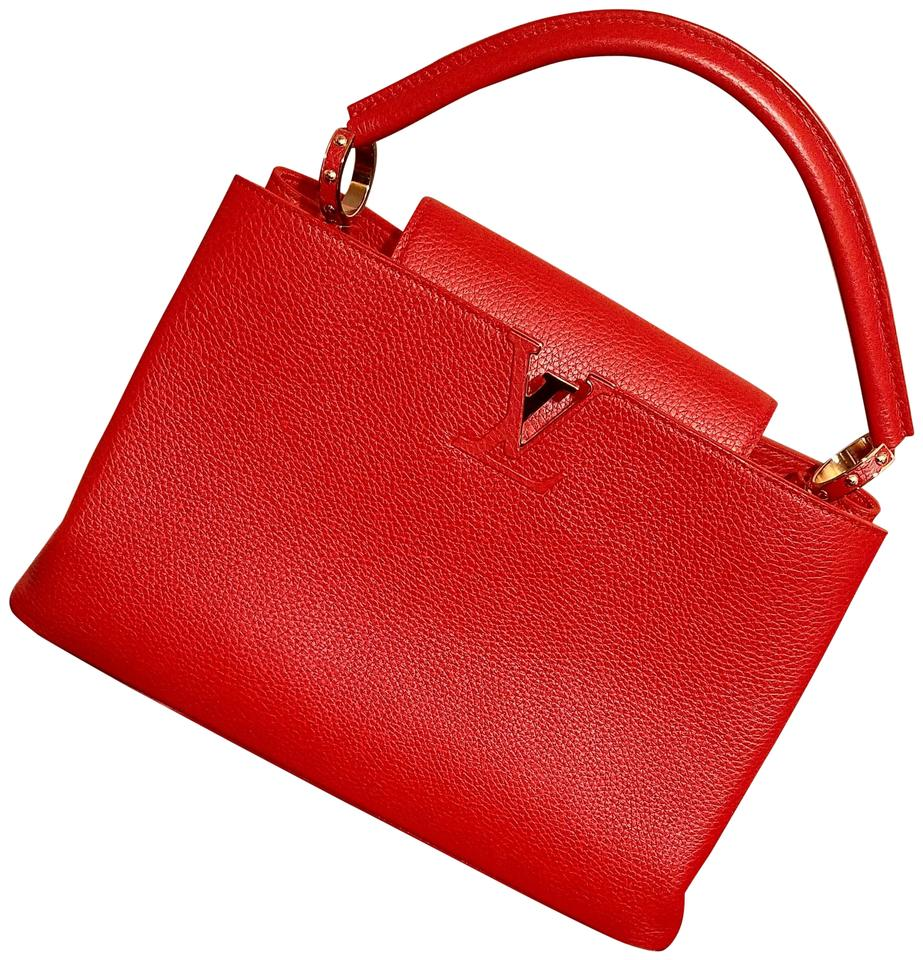 be492f995a90 Louis Vuitton Classic Limited Edition Chic Leather Gold Hardware Tote in Red  Image 0 ...