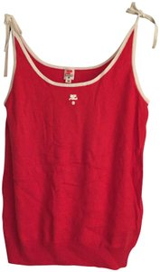 Courrèges Camisole Top Red