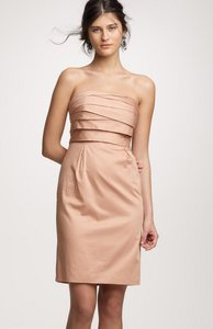 J.Crew Tan Cotton Casual Bridesmaid/Mob Dress Size 10 (M)