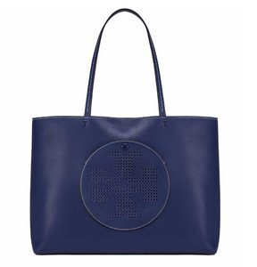 2d981847dd58 Tory Burch Tote in Royal Navy Cherry Apple. Tory Burch Sale Perforated-logo  ...