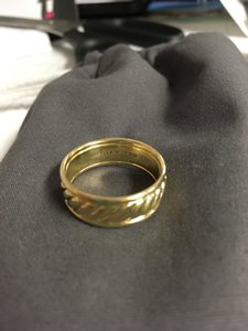 David Yurman Yellow 18k Mens Wedding Band