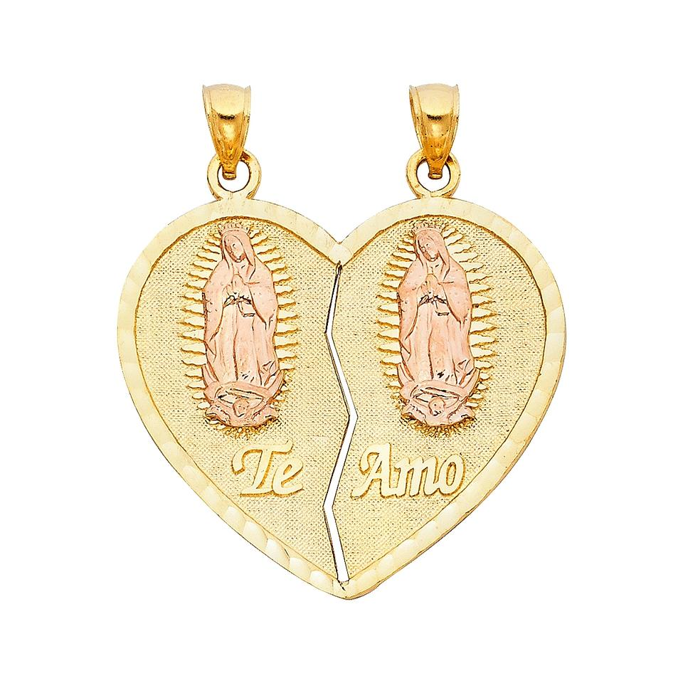 Yellow rose 14k teamo heart 2 piece pendant charm tradesy top gold diamond jewelry yellow rose gold 14k teamo heart 2 piece pendant mozeypictures Image collections