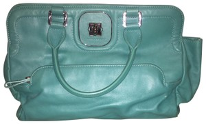 3a1a00eba78 Longchamp Lamb Leather Excellent Condition Blue Blue Leather Satchel in  Turquoise
