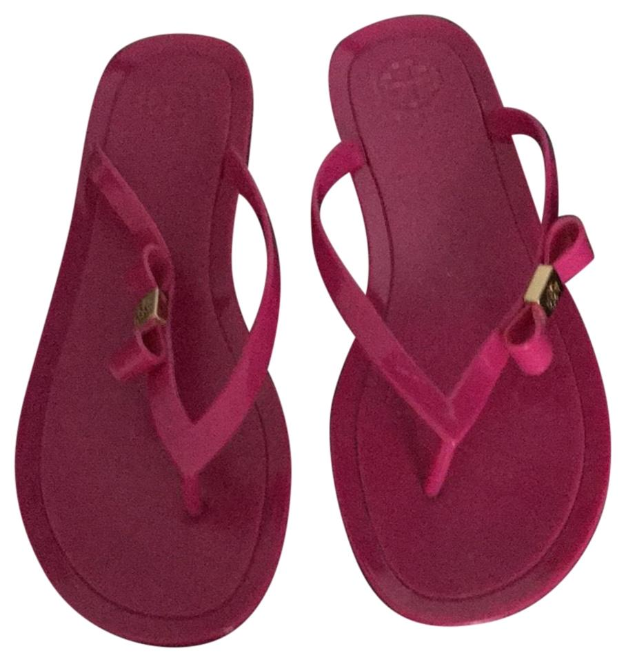 Ladies Flats Tory Burch Pink Sandal Flats Ladies For your choice 6f16cf