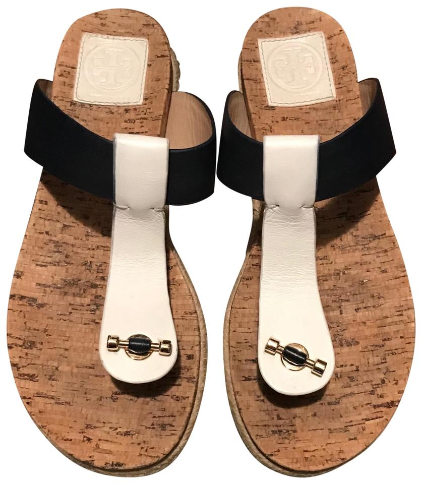Burch Tory White Navy Flats and Sandal 744qwO