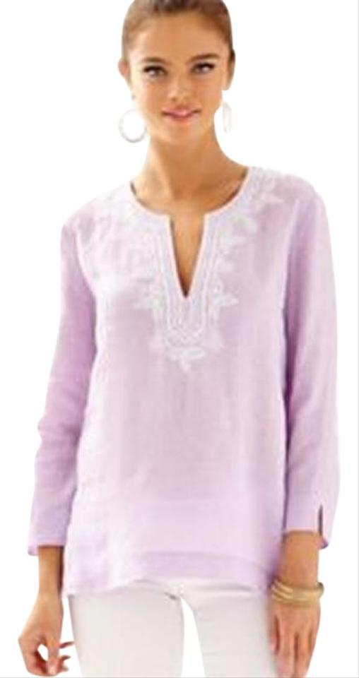 571ea5c9d35579 Lilly Pulitzer Iced Lilac Amelia Island Tunic - Blouse Size 0 (XS ...