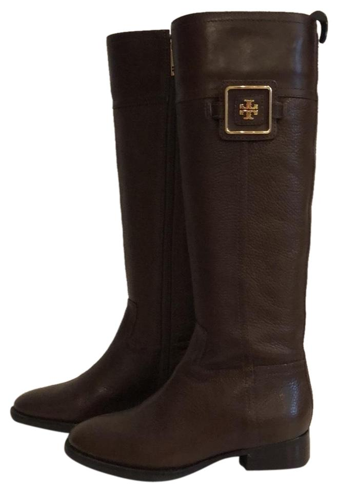 Tory Burch Chocolate Chocolate Burch Brown Riding Boots/Booties 28477c