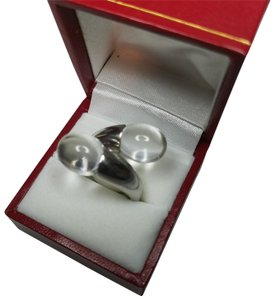 Baccarat BACCARAT Tantation Duo Clear Crystal Sterling Silver Ring