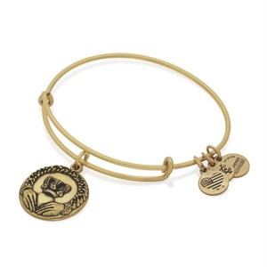 Alex and Ani Alex and Ani Claddagh Charm Bangle in Rafaelian Gold Finish A16EBCLRG